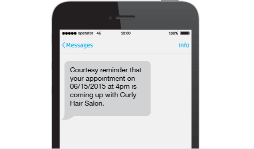 Text message reminders